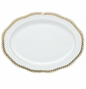 Herend Porcelain Golden Laurel Oval Platter 15L