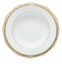 Herend Porcelain Golden Laurel Rim Soup Plate 8D