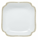 Herend Porcelain Golden Laurel Square Fruit Dish 11Sq