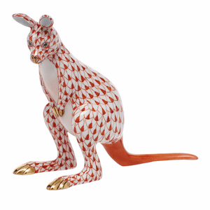 Herend Porcelain Kangaroo Figurines