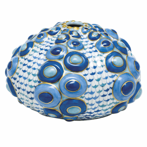 Herend Porcelain Large Sea Urchin 6.25L X 3.5H
