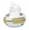 Herend Porcelain Modified Queen Victoria Egg Bonbon with Bunny 3L X 3H