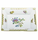 Herend Porcelain Modified Queen Victoria Jewelry Tray 7.5L X 6.25W