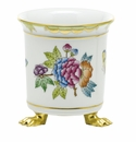 Herend Porcelain Modified Queen Victoria Mini Cachepot with Feet 3.75L X 4H