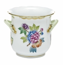 Herend Porcelain Modified Queen Victoria Mini Cachepot with Handles 4.75L X 3.75H