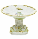 Herend Porcelain Modified Queen Victoria Shell With Dolphin Stand 4H X 6D