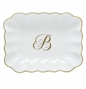 Herend Porcelain Oblong Dish with B Monogram 7.25L X 5.5W