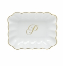 Herend Porcelain Oblong Dish with P Monogram 7.25L X 5.5W