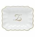 Herend Porcelain Oblong Dish with Z Monogram 7.25L X 5.5W
