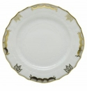 Herend Porcelain Princess Victoria Gray Bread And Butter Plate 6D - Gray