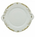 Herend Porcelain Princess Victoria Gray Chop Plate with Handles 12D - Gray