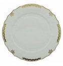 Herend Porcelain Princess Victoria Gray Dinner Plate 10.5D - Gray
