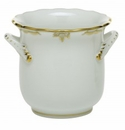 Herend Porcelain Princess Victoria Gray Mini Cachepot with Handles 4.75L X 3.75H - Gray