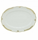 Herend Porcelain Princess Victoria Gray Platter 15L X 11.5W - Gray