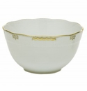 Herend Porcelain Princess Victoria Gray Round Bowl (3.5 Pt) 7.5D - Gray