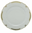 Herend Porcelain Princess Victoria Gray Service Plate 11D - Gray