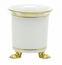 Herend Porcelain Princess Victoria Green Mini Cachepot with Feet 3.75L X 4H - Green