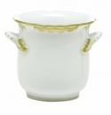 Herend Porcelain Princess Victoria Green Mini Cachepot with Handles 4.75L X 3.75H - Green