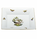 Herend Porcelain Rothschild Bird Jewelry Tray 7.5L X 6.25W