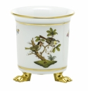 Herend Porcelain Rothschild Bird Mini Cachepot with Feet 3.75L X 4H