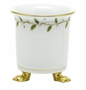 Herend Porcelain Rothschild Garden Mini Cachepot with Feet 3.75L X 4H