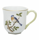 Herend Porcelain Song Bird Mug - Bluebird (10 Oz) 3.5H