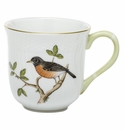 Herend Porcelain Song Bird Mug - Robin (10 Oz) 3.5H