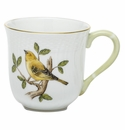 Herend Porcelain Song Bird Mug - Warbler (10 Oz) 3.5H