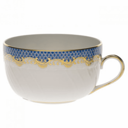 Herend White With Blue Border Canton Cup (6 Oz)