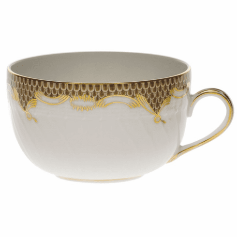 Herend White With Brown Border Canton Cup (6 Oz)