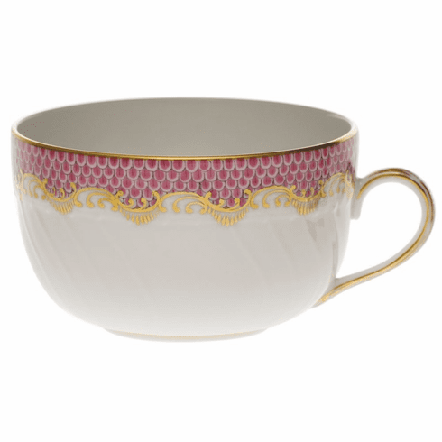 Herend White With Pink Border Canton Cup (6 Oz)