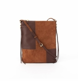 Hobo Fusion Tobacco Nubuck Hide Crossbody Shoulder Handbag