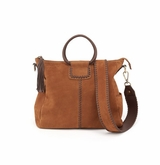 Hobo Sheila Tobacco Nubuck Hide Crossbody Shoulder Handbag
