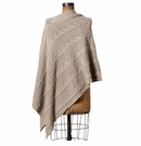 in2green Chunky Cable Poncho Hemp