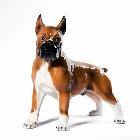 Intrada Italy Boxer Standing Dog Statue