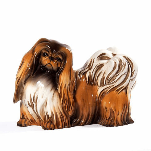Intrada Italy Brown Patinato Shih-tzu Dog Statue