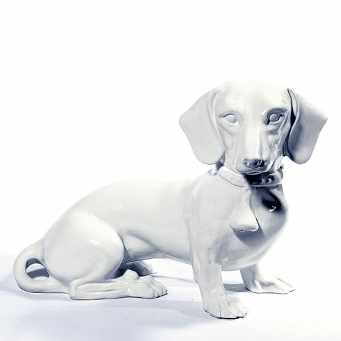 Intrada Italy Dachshund Solid White Statue