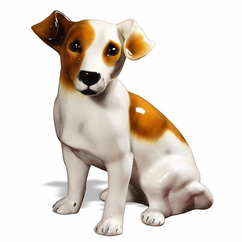 Intrada Italy Jack Russell Brown Statue
