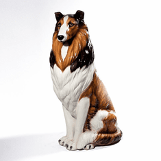 "Intrada Italy Large Collie 35""H Statue"