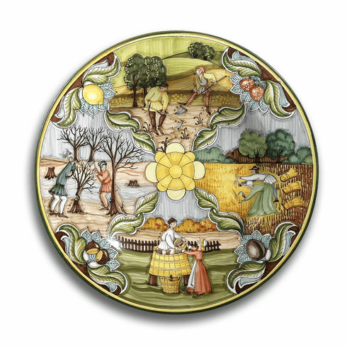"""Intrada Italy Large Four Seasons Wall Plate 21""""D"""