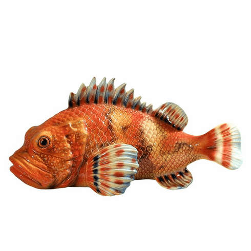 Intrada Italy Large Red Scorfano Fish Figurine