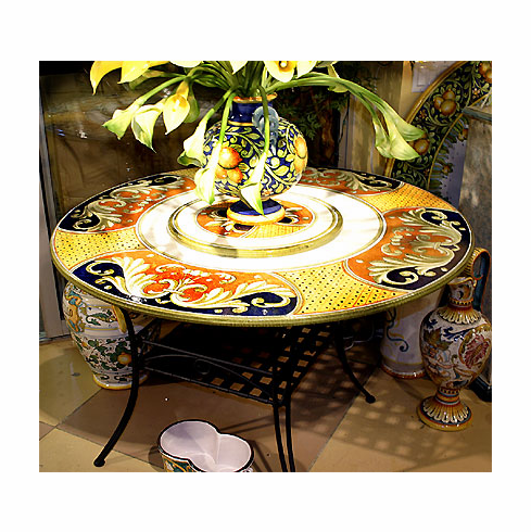 Intrada Italy Lava Stone Table Firenze with 4 Chairs