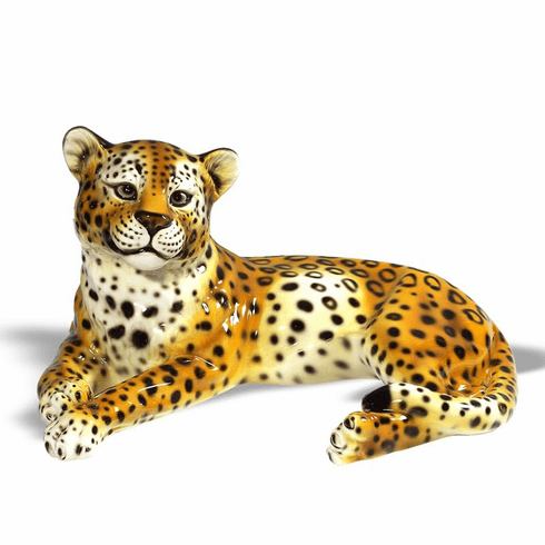 Intrada Italy Leopard Laying Statue