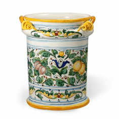 Intrada Italy Majolica Decorato Lemon Umbrella Stand
