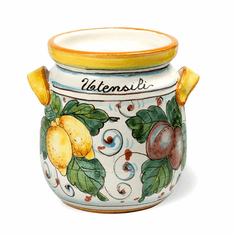 Intrada Italy Majolica Decorato Lemon Utensil Holder