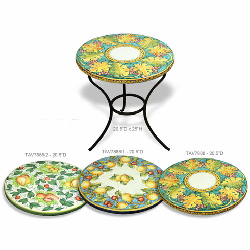 Intrada Italy Table and Base Montepulciano Tuscan Grape Design
