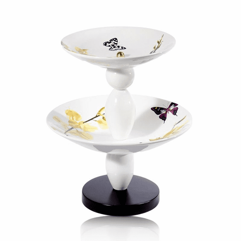 Intrada Italy Vivere Estate 2 Tier Bowl