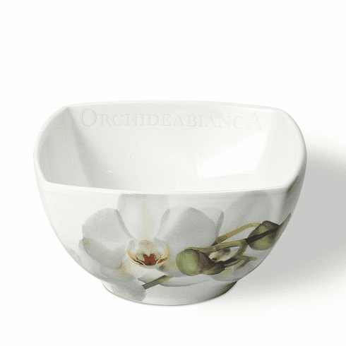 Intrada Italy Vivere Orchid Square Bowl Set of 4
