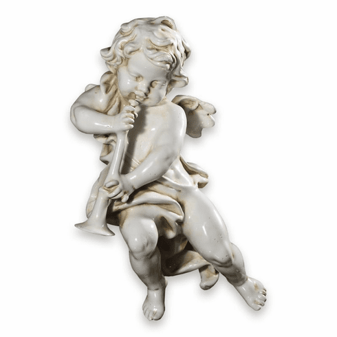 """Intrada Italy Wall Angel Playing Trumpet 20""""H"""