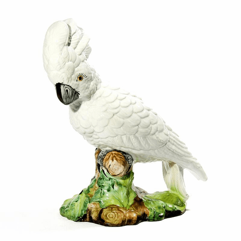 Intrada Italy White Parrot Statue